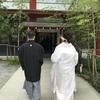 昨日)熱海温泉ハウスから「結婚式 」熱海の来宮神社へ。新郎新婦さんとお身体にはお子さん。新潟や山形から。「縁結びの神」二次会三次会はチェックアウトまで賑やか&ゆったりと。