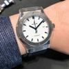 時計屋放浪記【ウブロ】HUBLOT  クラシックフュージョン  チタニウム ホワイトシャイニー ブルー