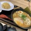 【上里SA下りフードコート】蔵仕込みラーメンKURA:味噌ラーメンサービスセット、なかなか美味しい