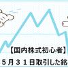 【国内株式初心者】2021年5月31日取引した銘柄の記録