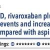 ACPJC 治療:安定した心血管疾患患者では、リバロキサバン+アスピリンはアスピリン単独と比較して心血管イベントを減らすが出血を増やす