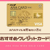 ANAマイルを貯めるなら、ANA VISAワイドゴールドカード!年会費以上にお得!