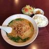 「味鮮」で台湾ラーメン、餃子セット