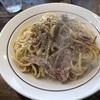 340. カルボ@スパゲティストアカルボ(入谷/浅草):ボリューム満点の絶品焼きスパゲッティ!カルボナーラはここだけ?