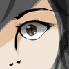 「目」を描く。