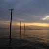箱根ターンパイクの富士山と、江川海岸の電柱