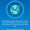 fitbit日記:Earthバッジを獲得!