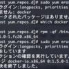 bash dockerの削除は sudo yum erase docker-io で行う(末尾 に -io が付く)