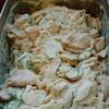 蒸し鶏のチーズソース&大葉がけ