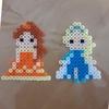 【まっさん'sブログ】アイロンビーズでエルサとベルを作ってみました
