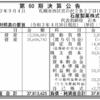 石屋製菓株式会社 第60期決算公告