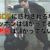 【GDPに惑わされるな】ニッポンは儲かってるが庶民は儲かってない