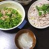 豚しゃぶサラダ、ツナピーマン、味噌汁