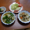 幸運な病のレシピ( 479 )朝:煮しめ、焼き魚、ロール白菜仕立て直し、こんにゃく下茹で
