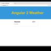 Angular2で作る天気予報チュートリアルver.1