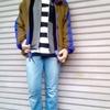 今日の服|90年代っぽさを意識したスポーツ&アウトドアMIXな普段着コーデ