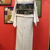 白地桜柄現代小紋×唐花ビロード袋帯