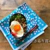 今日のお弁当と紫陽花柄のランチクロス