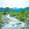 新緑萌える早月川からの剱岳:HDR