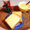 チーズトースト、コーンスープ。