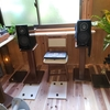木製スピーカースタンドは大理石オーディオボード トラバーチン