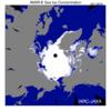 北極海海氷-この時期、史上最小