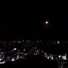 スカイツリーと満月と東京タワー。