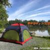 フルクローズできるサンシェード(ノースイーグル:ピクニックシェード)をテントがわりに使ってみた感想【母子車中泊キャンプ:2日目】