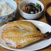今日の食べ物 朝食に赤魚の開き