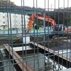 新戸トンネルを跨ぐ橋の架け替え工事