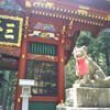 関東一のパワースポット、三峯神社にはオオカミの狛犬