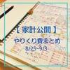 【家計公開】やりくり費まとめ(8/25~9/3)