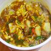 1月7日(月)ドラマで見たコロッケそばの楽しみ方と、イオンのカップヌードルカレー風カップ麺。