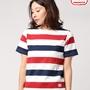 半袖太トリコロールボーダーボーダーバスクTシャツ(FEMME) 【Begin/ビギン8月号掲載】 | MACOBER(マコバ)