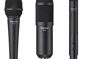 TASCAMからマイク3機種がリリース。配信からボーカル、楽器、映像音声までをカバー