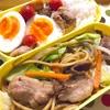 ヨメさん弁当〜焼きそば・鶏の揚げ焼き・ゆで卵〜