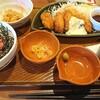 ガストのカキフライとマグロ丼定食