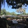 テラス席で楽しむ「バルセロネタのビーチレストラン」
