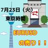 【7/23 東京時間】EURUSDでショートエントリーしました!!