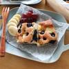 【おやつレシピ 】ホットケーキミックスでお手軽!ブルーベリーとクリームチーズのケーキ