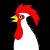 色んな色のニワトリ の無料イラスト