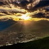 【長野県大町市】6月、鷹狩山展望台からの夕景