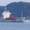 コンテナ船入港・自力で接岸!