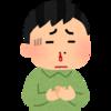 息子がベッドから落ちて鼻血を出す(汗)