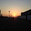 大阪港中央突堤のダイヤモンドスポットの夕陽
