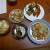 幸運な病のレシピ( 368 )朝:煮しめ(鶏の挽肉団子)、身欠きにしん焼きびたし