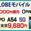 【8月1日まで 】BIGLOBE mobile・セール 人気スマホが最大22000円分バック
