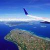 那覇行きは南西諸島の島々が美しい左窓側に決まり。