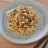 ホットクックで作る野菜たっぷりコチュジャン炒め。チャプチェ風に麺メニューにアレンジ♪