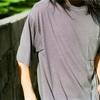 COMOLI ウール天竺半袖Tシャツ(ボーダー)